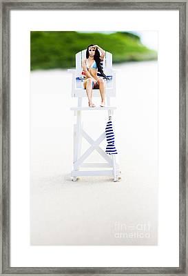 Lifeguard Framed Print by Jorgo Photography - Wall Art Gallery