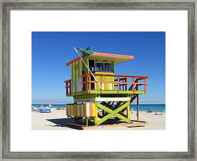 Lifeguard Stand Framed Print by Rosie Brown