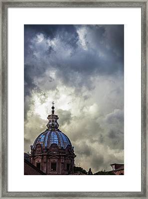 Light Breaks Through The Turbulent Framed Print