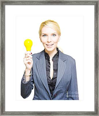 Light Bulb Framed Print by Jorgo Photography - Wall Art Gallery