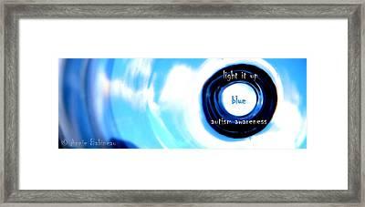 Light It Up Blue Framed Print by Anne Babineau