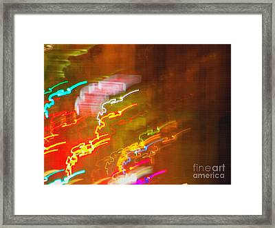 Light Painting - Paris - France  Framed Print by Francoise Leandre