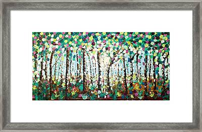 Light Through The Forest Framed Print