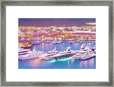 Light Up The Boats Framed Print