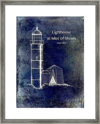 Lighthouse At Isles Of Shoals Framed Print