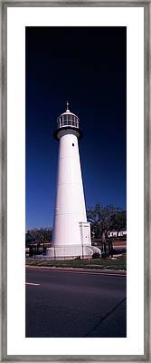 Lighthouse At The Roadside, Biloxi Framed Print