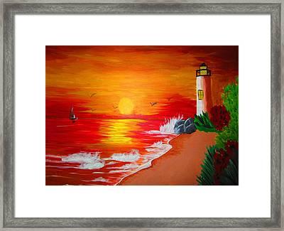 Lighthouse Framed Print by Haleema Nuredeen