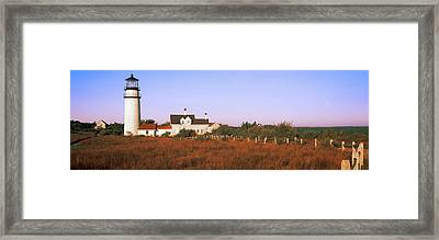 Lighthouse In The Field, Highland Framed Print