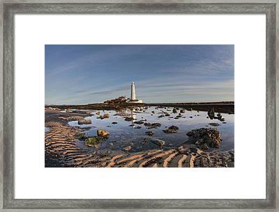 Lighthouse On St. Mary S Island Framed Print