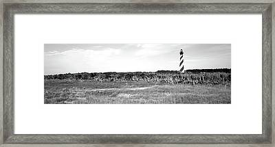 Lighthouse On The Coast, Cape Hatteras Framed Print