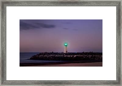 Lighthouse Santa Cruz Framed Print