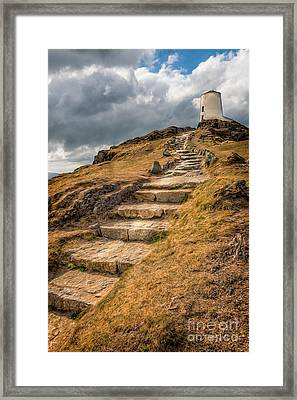 Lighthouse Steps Framed Print