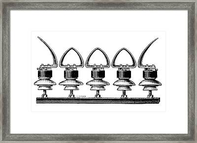 Lightning Arrester Framed Print
