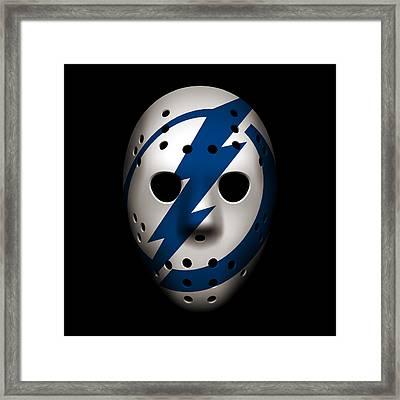 Lightning Goalie Mask Framed Print by Joe Hamilton