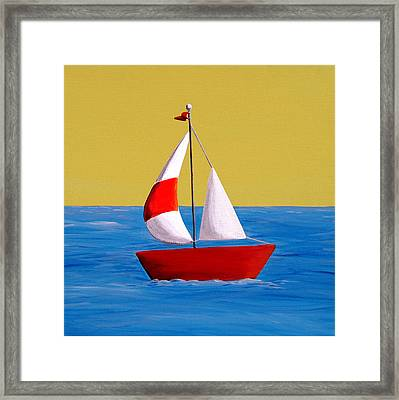 Lil Sailboat Framed Print