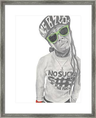 Lil Wayne Framed Print by Michael Durocher