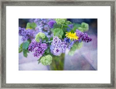 Lilacs In Vase 3 Framed Print by Rebecca Cozart