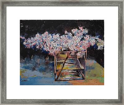 Lilacs Framed Print by Michael Creese