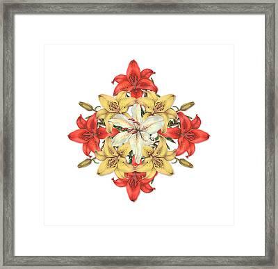 Lily Cluster Framed Print