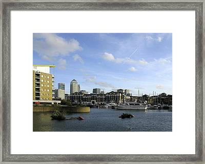 Framed Print featuring the photograph Limehouse Basin by Helene U Taylor