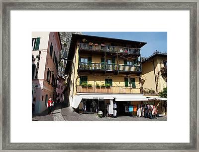 Limone Del Garda, Lago Di Garda Framed Print by Sergio Pitamitz