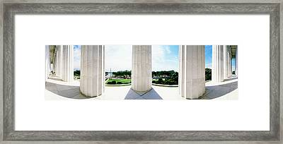 Lincoln Memorial Washington Dc Usa Framed Print by Panoramic Images