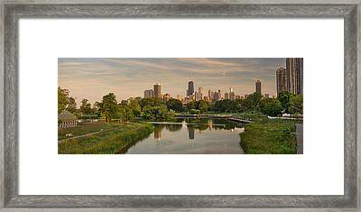 Lincoln Park Lagoon Chicago Framed Print