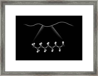 Linear Molecule Framed Print