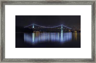 Lions Gate Bridge Framed Print by Colin McMillan