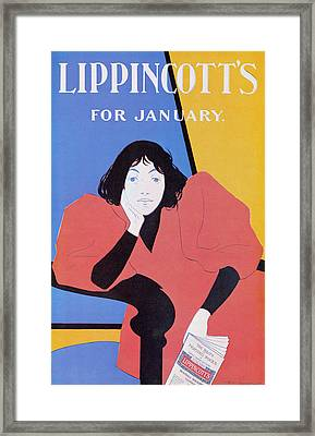 Lippincotts February 1895 Framed Print by William L Carqueville