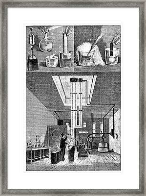 Liquid Air Experiments Framed Print