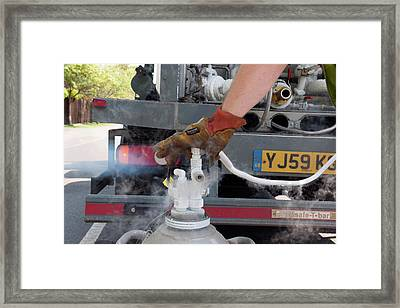 Liquid Nitrogen Delivery Framed Print
