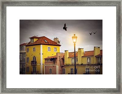 Lisbon Houses Framed Print by Carlos Caetano