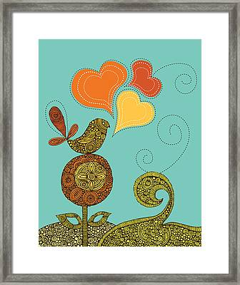 Little Bird In The Flower Framed Print