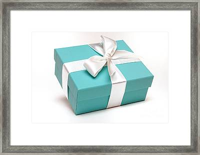 Little Blue Gift Box Framed Print