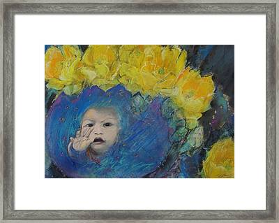 Little Cactus Boy Framed Print by Terri Ana Stokes