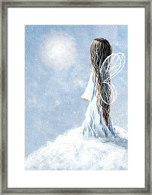 Little Fairy By Shawna Erback Framed Print by Shawna Erback