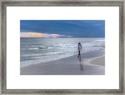 Little Girl At The Beache Framed Print