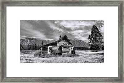 Little House On The Prairie Framed Print by Wayne Sherriff