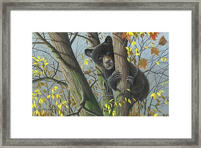 Framed Print featuring the painting Little Mischief by Mike Brown