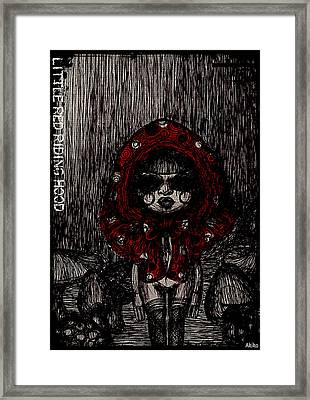 Little Red Riding Hood Framed Print by Akiko Okabe