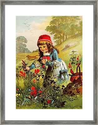 Little Red Riding Hood Framed Print by Carl Offterdinger