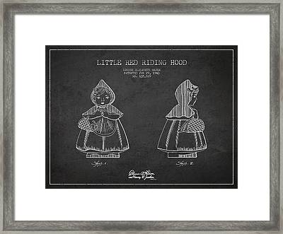 Little Red Riding Hood Patent Drawing From 1943 Framed Print by Aged Pixel