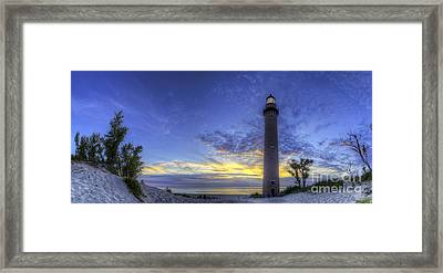 Little Sable Lighthouse In Evening Framed Print