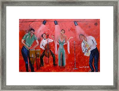 Live Jazz Framed Print