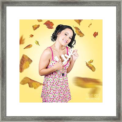 Live Love Life. Autumn Lifestyle Framed Print by Jorgo Photography - Wall Art Gallery