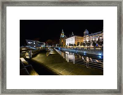 Liverpool Waterfront Framed Print by Wayne Molyneux