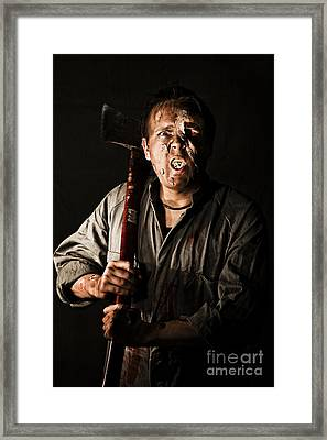 Living Dead Killer Zombie Framed Print by Jorgo Photography - Wall Art Gallery