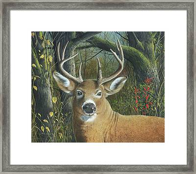Framed Print featuring the painting Living On The Edge by Mike Brown