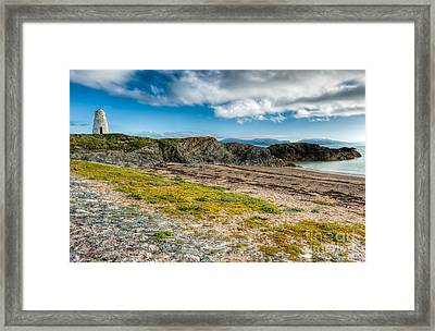 Llanddwyn Beacon Framed Print by Adrian Evans